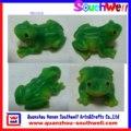 polyresin de colección 3d rana estatuilla para la decoración del hogar