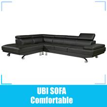 Leather sofa corner /modern italian furniture loung suite in shanghai