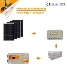 Juego completo de energía solar sistema de precios 1.5KVA Para el hogar eléctrico