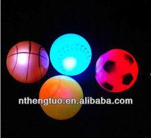 Pet LED Sports toy/ fun toys/Flashing basket ball,LED dog football