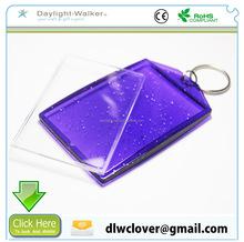 Customized promotional gifts plastic acrylic blank photo frames keychains