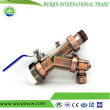 2pc sanitary brass ball valve with flat lever handles ball valve size 1 or 1/2 inch China supplier full flow