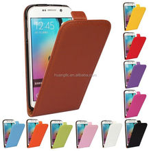 Factory Price genuine flip leather phone case for samsung galaxy s6 edge accpet OEM