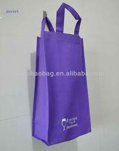 non woven fabric wine bag for 2 bottles water bottle holder bag