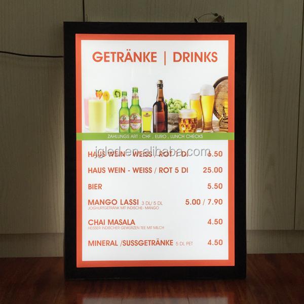 led menu board light box double sided buy menu board led menu board