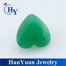 Wholesale 8 x 8 mm heart cut glass gems jade