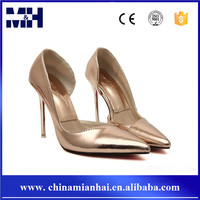 New arrival gold and silver color fashion ladies sexy high heel shoes