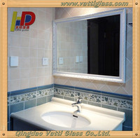 China top quality glass price mirror per square meter of tempered glass
