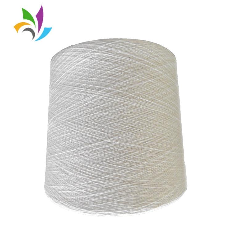 Magazzino sacco di tessitura riciclato non tinti poli cotone tc 65 35 filato misto