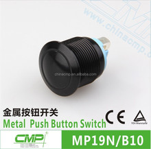 CMP 19mm aluminium anodized ip67 waterproof colorized push button switch