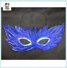 Venetian Masquerade Ball Hen Night Party Dance Blue Feather Eye Masks HPC-0432