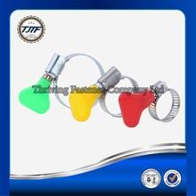 bandwidth(8mm/12.7mm) metal american type hose clamp/hose hoop with plastic handle