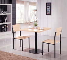 E0731 sample dining table and 2 chair/ modern dining room table/dining room table wood