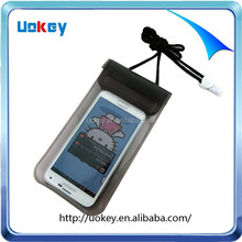 Neck hanging China supplier waterproof bag for Iphone 6