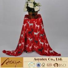 Christmas printed super soft coral fleece blanket