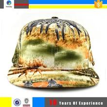 blank flat brim cap and snapback hat