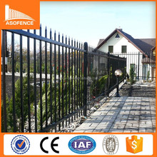 Security powder coated home wrought iron fence / Spear Top cheap wrought iron fence