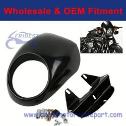 Unpainted ABS Black Front Headlight Fairing For Harley Sportster Dyna FX XL FORK FHADA056