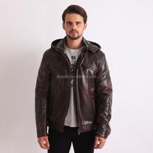 Wholesale Cheap Faux Leather Jacket Brown Men's Leather Coats