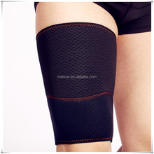 Rehabilitation Pain-relieve Breathable Blood Circulation Durable Neoprene Embossed Leg Thigh Sleeve