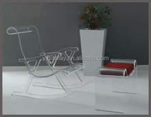 Luxury Professional Acrylic Styling Chair Salon Furniture with Wheel