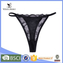 New Arrival Fashionable Minimizer Lace Hot Black Ladies G-String