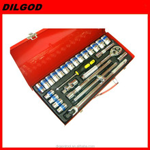 "12""DR 26PCS vehicle repair hand tool kit Socket ratcheting wrench set"