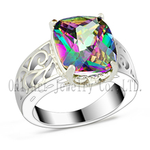 ODM & OEM orders accepted good quality rhodium plated 925 sterling silver ring with stone