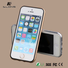 TPU Metal cell phone case cover for iPhone 5S from factory