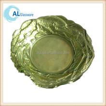cheap antique decoration clear glass plates color plate