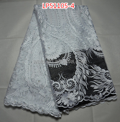 exquisite french lace wonderful pattern LP51105-4 white wedding net lace fabric