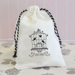 wholesale china factory supplier promotional natural cotton gifts bag/cotton gifts pouch
