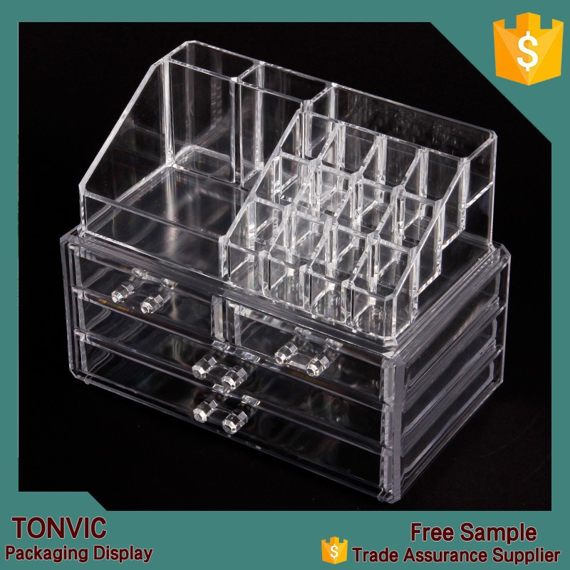 Wholesale Cheap Clear Acrylic Cosmetic Makeup Organizer