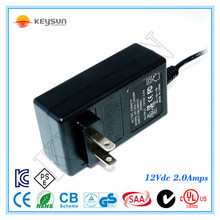 AC Input 100V-240V 50-60Hz 18v 2a ac dc adapter with CE UL SAA GS FCC