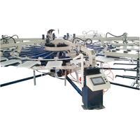 automatic rotary carousel\octopus t-shirt screen printing machine