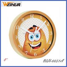 Round Plastic cartoon 8 inch wall clock
