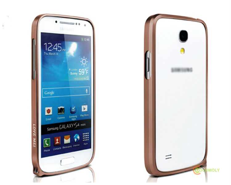 Love mei aluminum phone case 0.7mm metal bumper mobile case for GALAXY S4 MINI