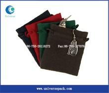 drawstring design suede fringe pouches