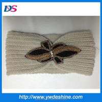 Latest designs fashion handcraft stock crochet head band wholesale TS-205