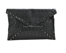 New style retro message bag rivets clutch lady bag
