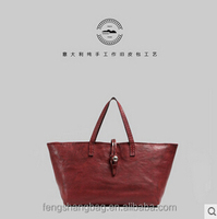 vintage hand bag American style leather handbag handmade retro casual large capacity tote
