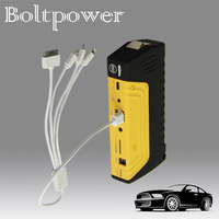 13800mah Mobile Power Bank Portable Car Battery Charger with Dual USB Port, LED Flashlight, Safety Hammer and Emergency Knife