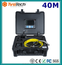 "40M Cable Pipe Wall Sewer Inspection Underwater Camera System,7"" LCD Pipe Inspection Detection CCTV Camera With Recording"
