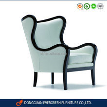 Dongguan furniture french style upholstery living room sofa chair with wooden frame copper nail EF11486