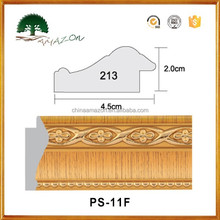 PS-11faux wood ps frame for decoration/eco-friendly popular ps Polystyrene moulding/creative ps photo frme,mirror frame