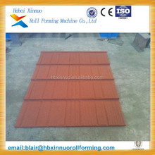 CE ISO high quality stone coated roof tile machine
