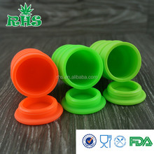 2015 Hot sales Eco-friendly silicone jars dab wax vaporizer wax oil barrel made in China