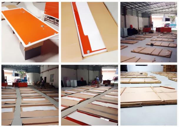 2015 nuevo diseño de melamina antiguo escritorio de oficina la ...