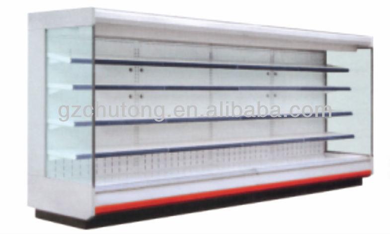 Supermercado vitrine refrigerador / cortina de ar do gabinete para o supermercado