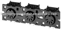 Din Right Angle Connector ISO Socket VCR Connector HDC-052P-03 5 pins TV Jack Horizontal Jack Lead Free RoHS parts
